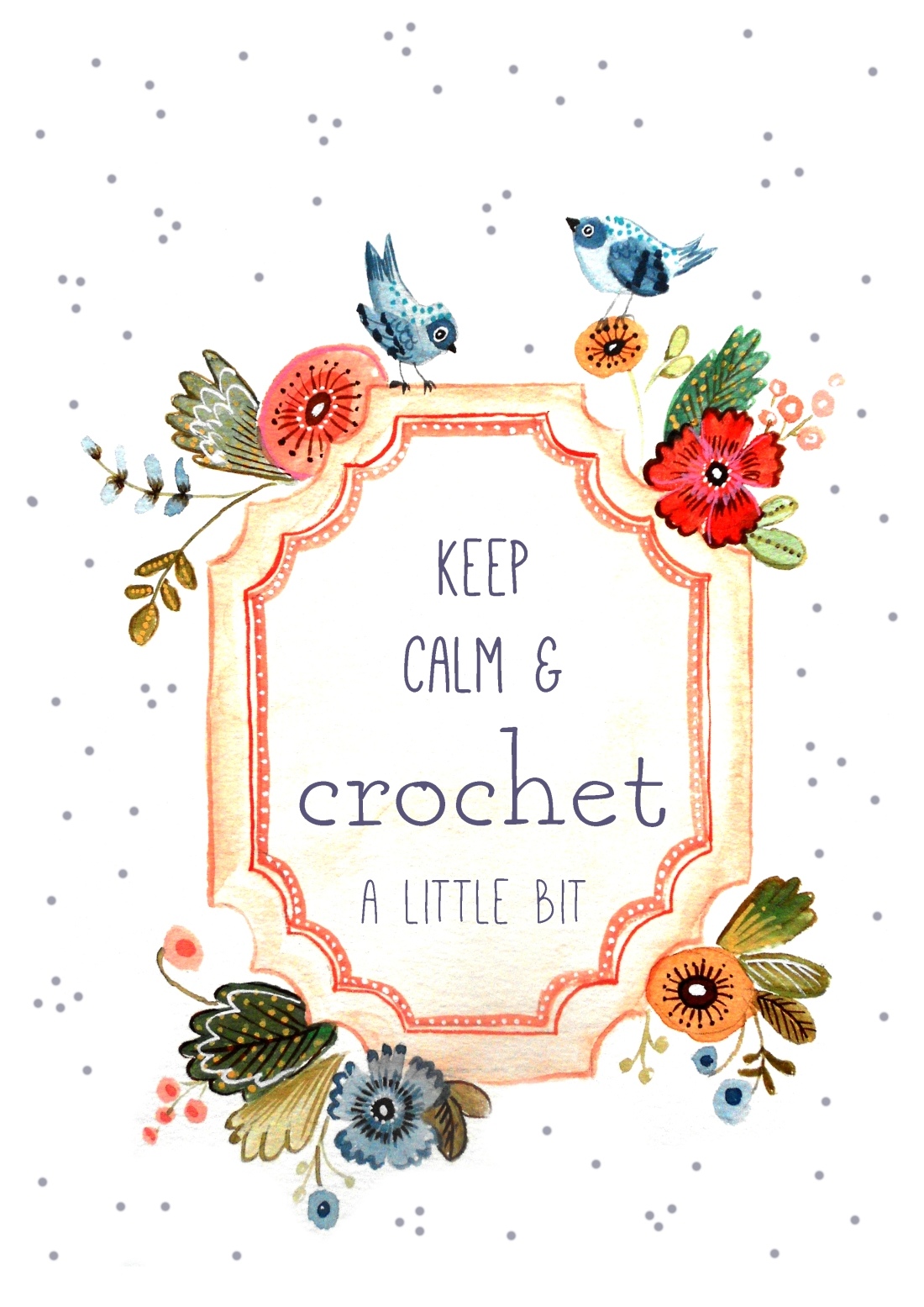 keep calm and crochet a little bit