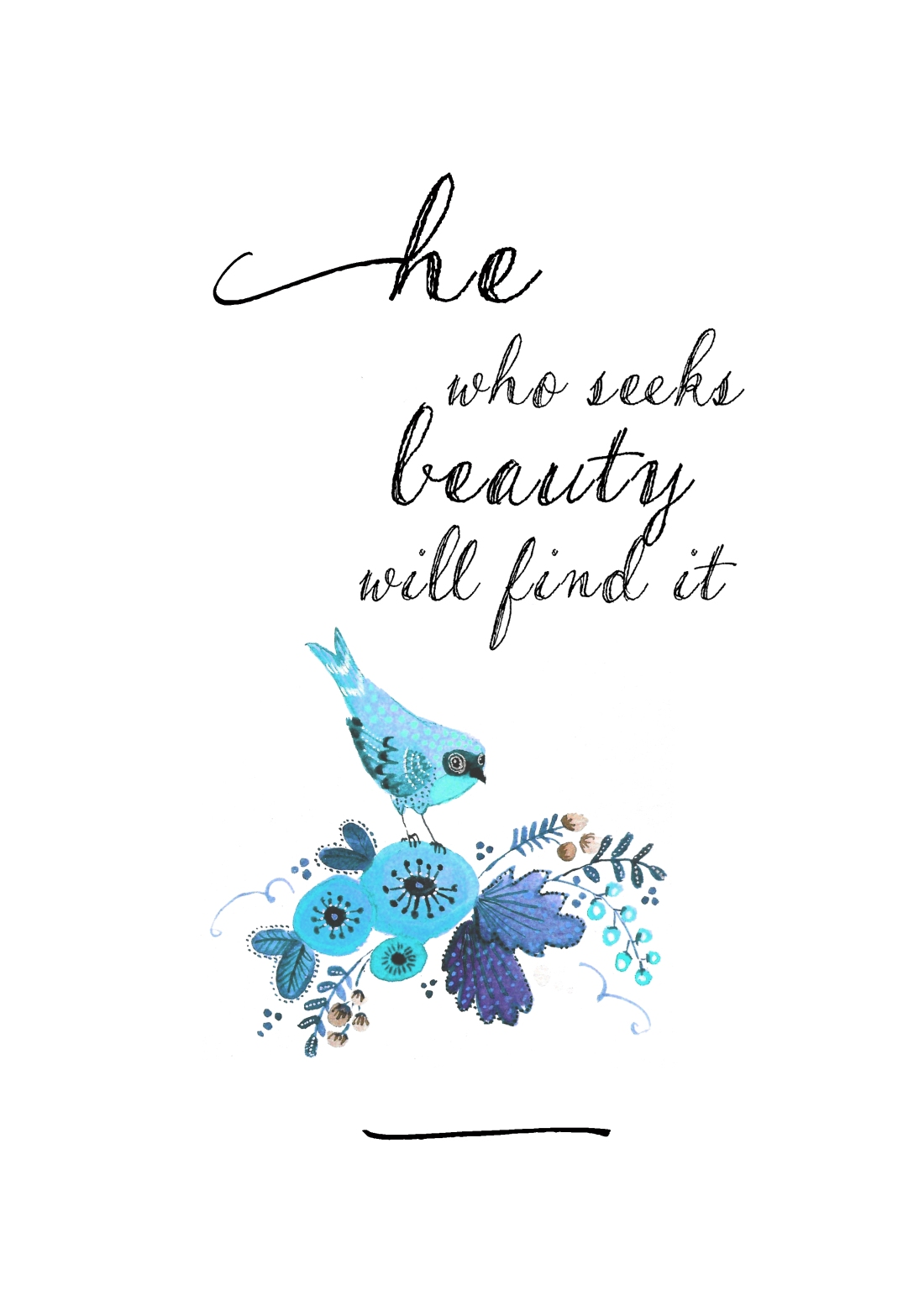 he who seeks beauty