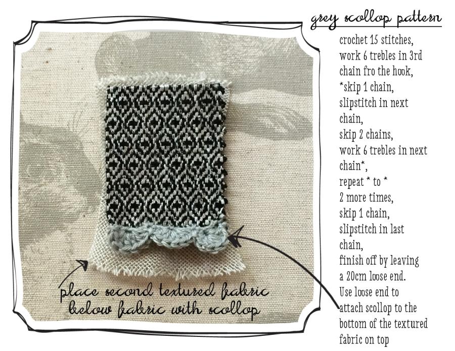 grey scollop pattern