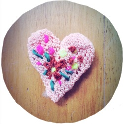 little pink heart brooch