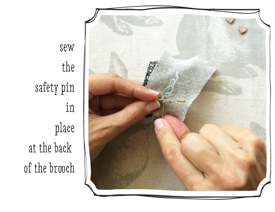 sew the pin