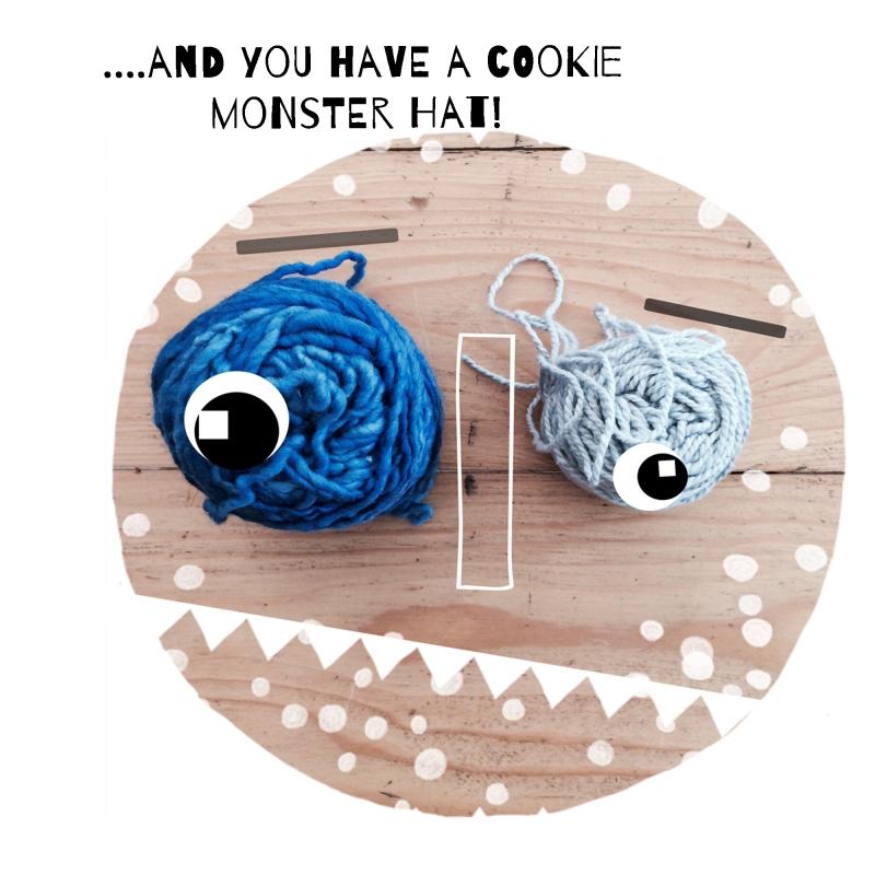 cookie monster hat by Elsbeth