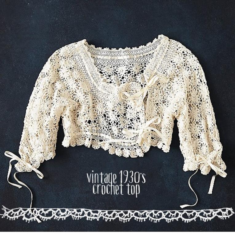vintage 1930 crochet top