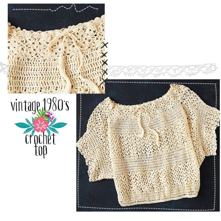 vintage 1980 crochet top