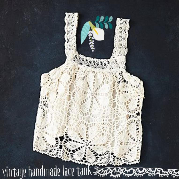 vintage handmade lace tank