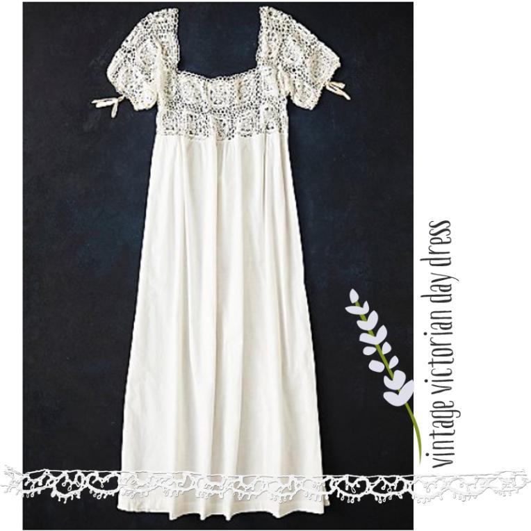 vintage victorian day dress