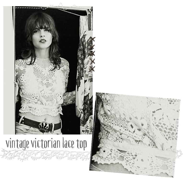 vintage victorian lace top