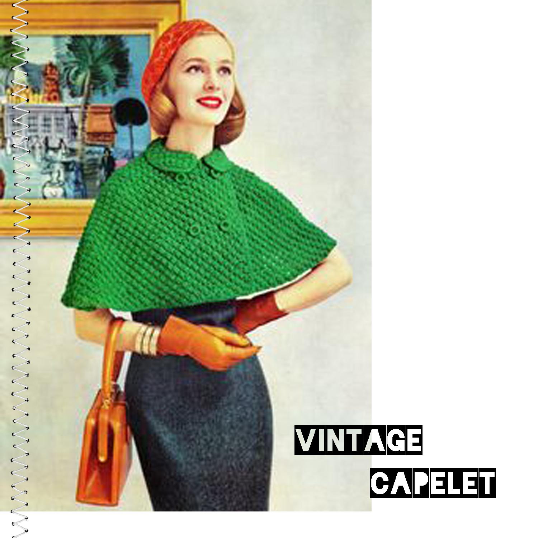 Free Vintage Crochet Capelet Patterns : vintage capelet